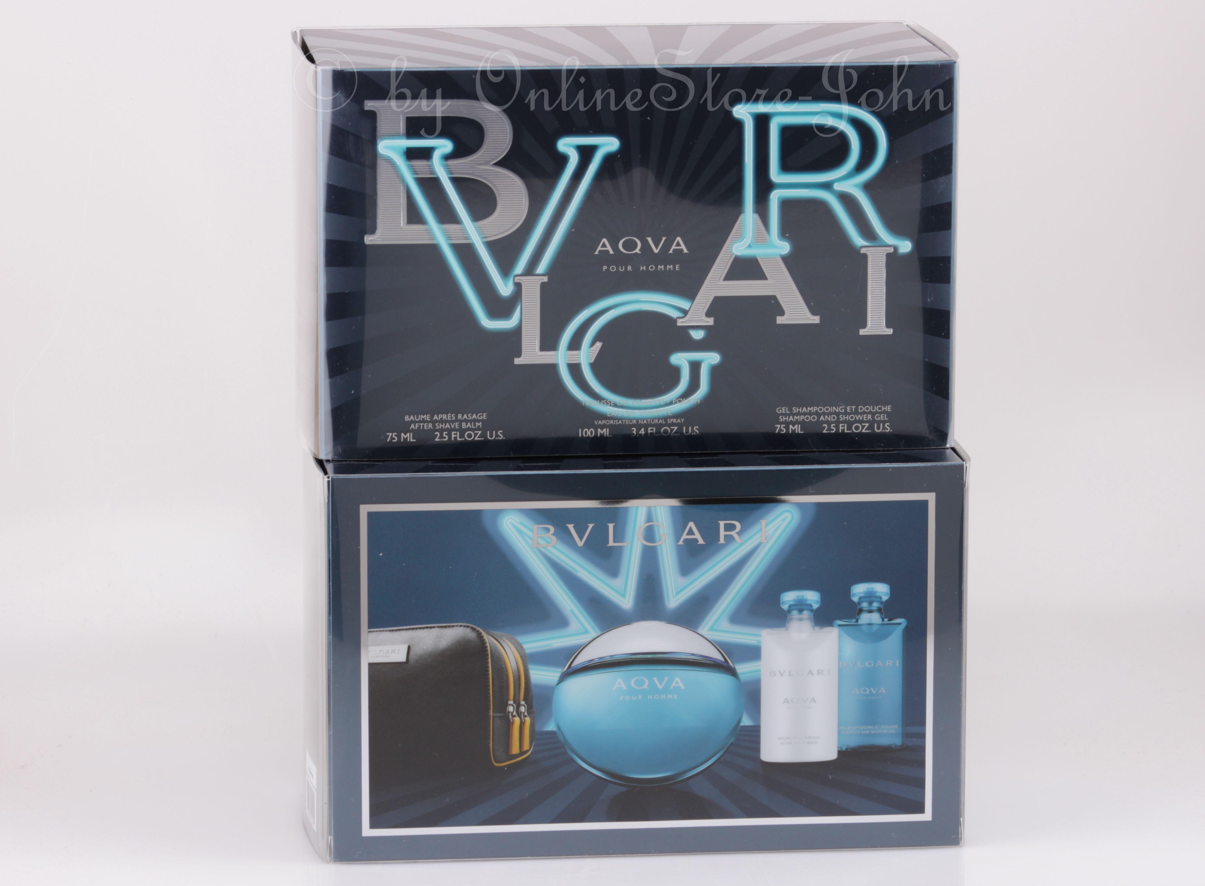 2b8e2862342 Bvlgari - Aqva Pour Homme Set - 100ml Edt + 75ml Asb + Sg + Bag