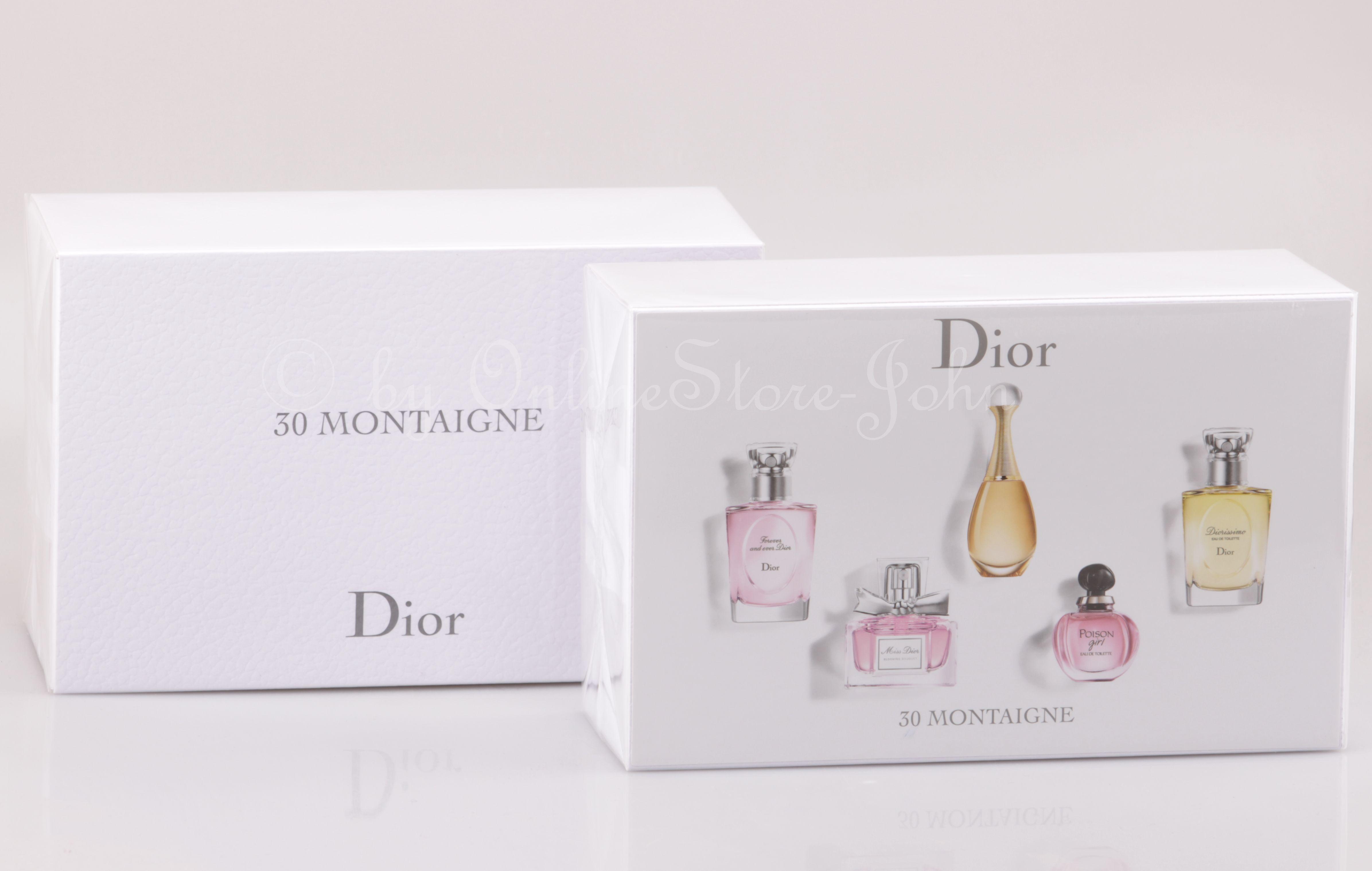 27637897c Christian Dior - 30 Montaigne Mini-Collection - 5 Miniaturas Edp + Edt