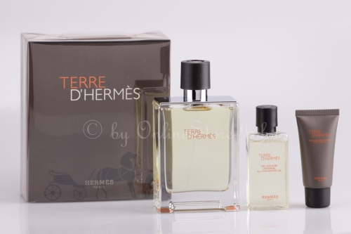 Hermes - Terre Set - 100ml EDT + 40ml DG + 15ml ASB