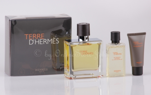 Hermes - TERRE Set - 75ml EDP - Pure Perfume + 40ml DG + 15ml ASB