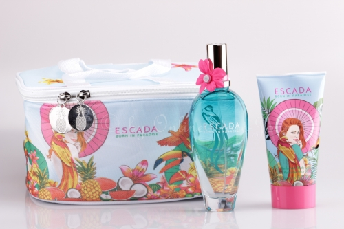 Escada - Born in Paradise Set - 100ml EDT + 150ml Bodylotion + Tasche