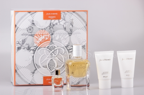 Hermes - Jour d'Hermes Set - 85ml + 7,5ml EDP + 30ml Bodylotion + 30ml Showergel