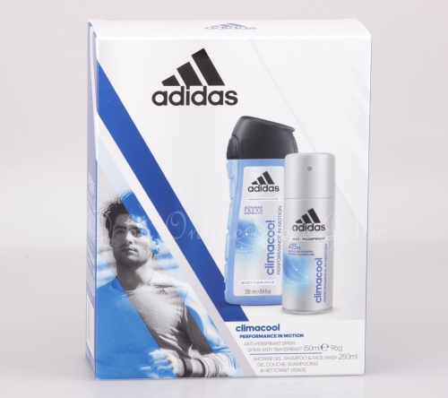 3er Pack - Adidas - Climacool Set -150ml 48h Deo-Spray + 250ml Body Shower Gel