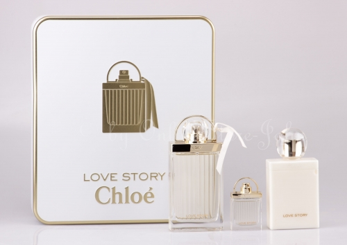 Chloe - Love Story Set - 75ml EDP + 7,5ml EDP + 100ml Bodylotion