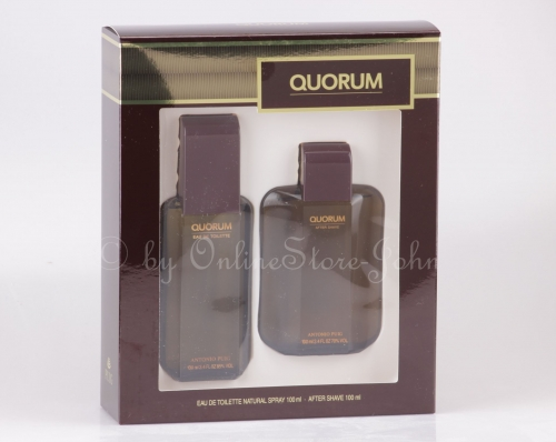 Antonio Puig - Quorum Set - 100ml EDT + 100ml After Shave Lotion