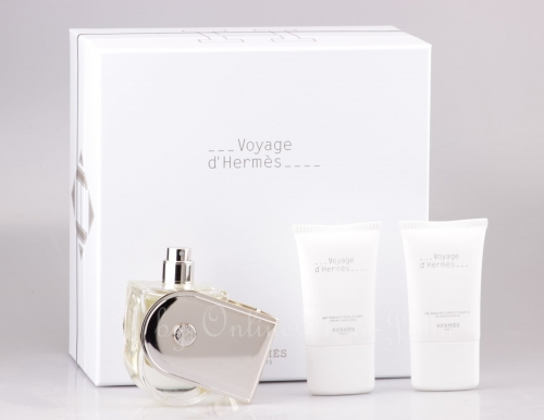 Hermes - Voyage d'Hermes Set - 100ml EDT + 30ml Body Lotion + Shower Gel
