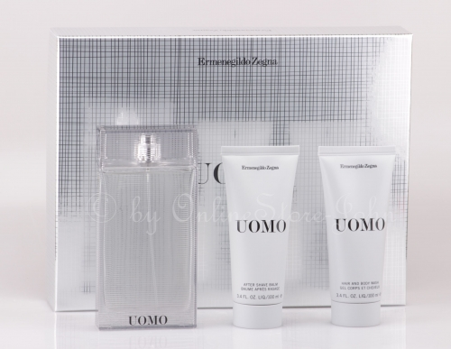 Ermenegildo Zegna - Uomo Set - 100ml EDT + After Shave Balm + Shower Gel