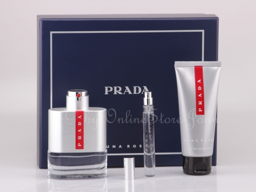 Prada - Luna Rossa Set - 100ml EDT + 100ml After Shave Balm + 10ml EDT Mini