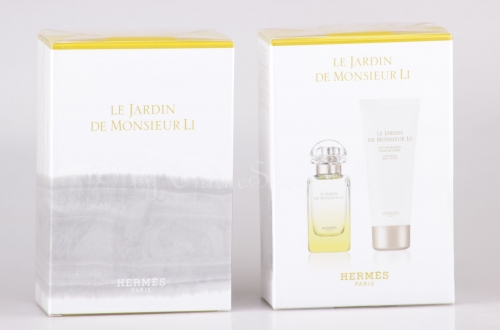 !! B-WARE !! Hermes - Le Jardin de Monsieur Li Set - 50ml EDT + 75ml Bodylotion