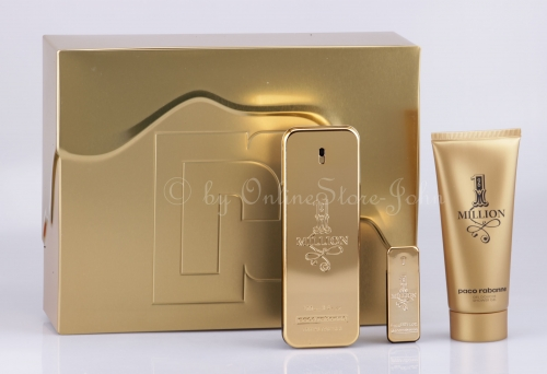 Paco Rabanne - 1 Million Set - 100ml EDT + 100ml Showergel + 5ml EDT Mini