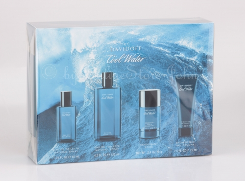 Davidoff - Cool Water Men Set - 125ml + 40ml EDT + 75ml Deostick + Shower Gel