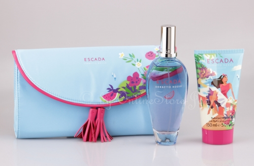 Escada - Sorbetto Rosso Set - 100ml EDT + 150ml Bodylotion + Clutch Bag