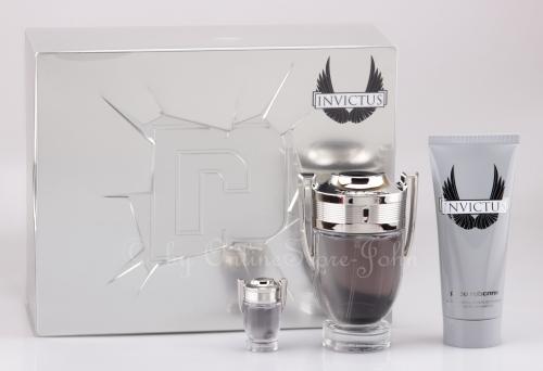 Paco Rabanne - Invictus Set 100ml EDT + 100ml Showergel + 5ml EDT Miniatur