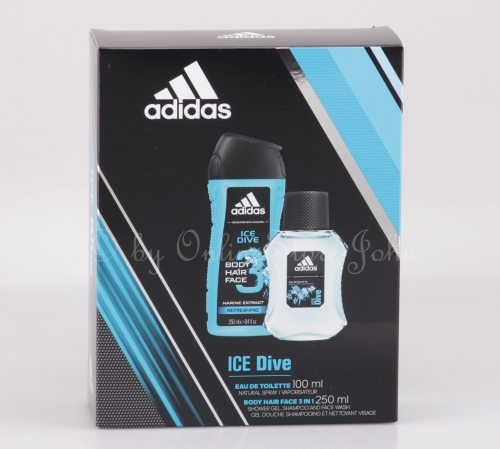 Adidas - Ice Dive Set - 100ml EDT + 250ml 3in1 Body Shower Gel