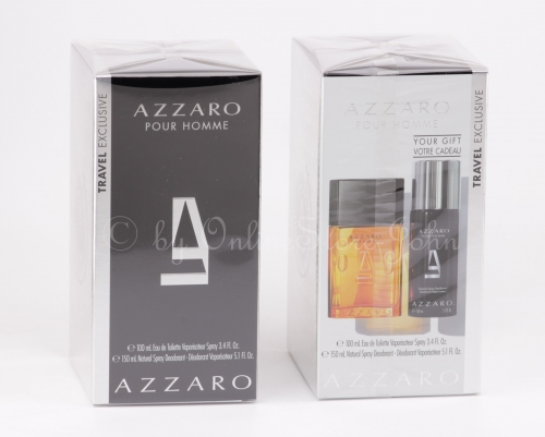 Azzaro - pour Homme Set - 100ml EDT + 150ml Deodorant Spray
