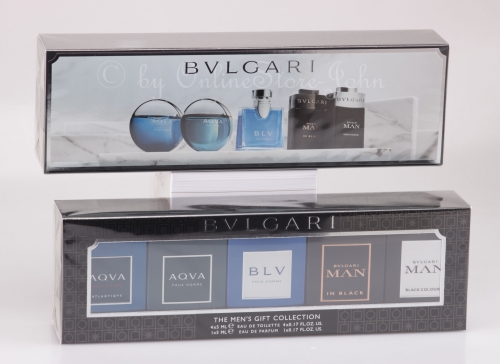 Bvlgari - Men Mini Collection - 5 x 5ml - Aqva / BLV / MAN Black - EDT + EDP