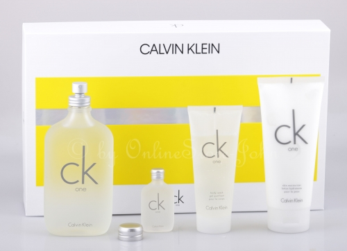 Calvin Klein - CK One Set 200ml EDT + 15ml EDT + 200ml BL + 100ml DG