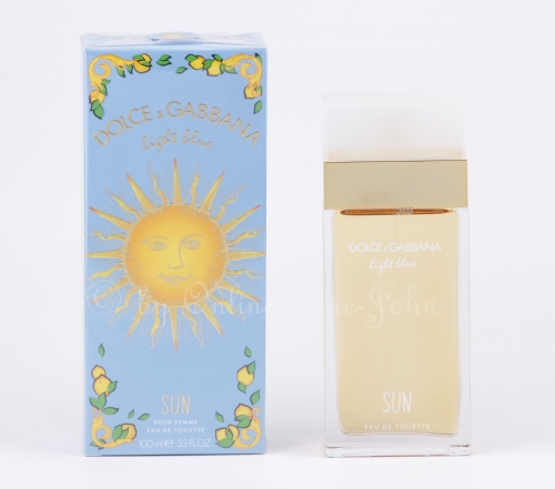 Dolce & Gabbana - Light Blue pour Femme Sun - 100ml EDT Eau de Toilette
