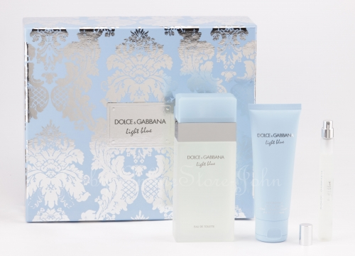 Dolce & Gabbana - Light Blue Set - 100ml EDT + 75ml Body Cream + 10ml EDT