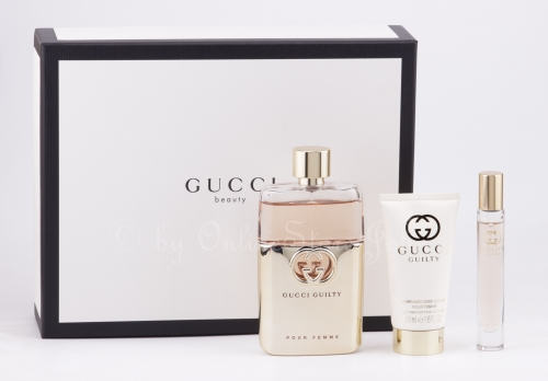 Gucci - Guilty pour Femme Set - 90ml + 7,4ml EDP + 50ml Body Lotion