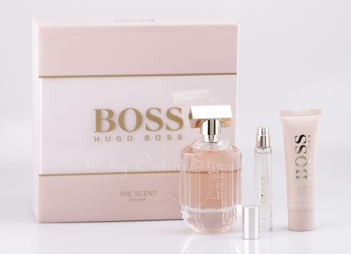 Hugo Boss - The Scent for Her Set - 100ml + 7,4ml EDP + 50ml Bodylotion