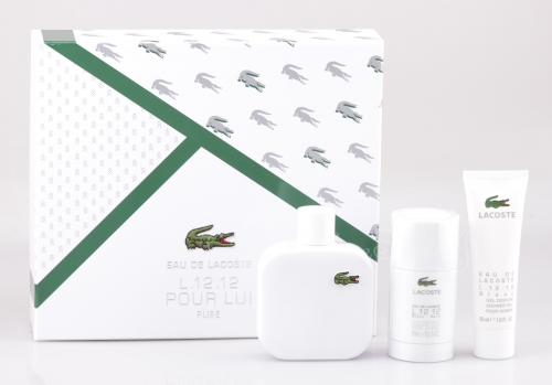 Lacoste - Eau de Lacoste L.12.12 Blanc Set - 100ml EDT + Deostick + Shower Gel