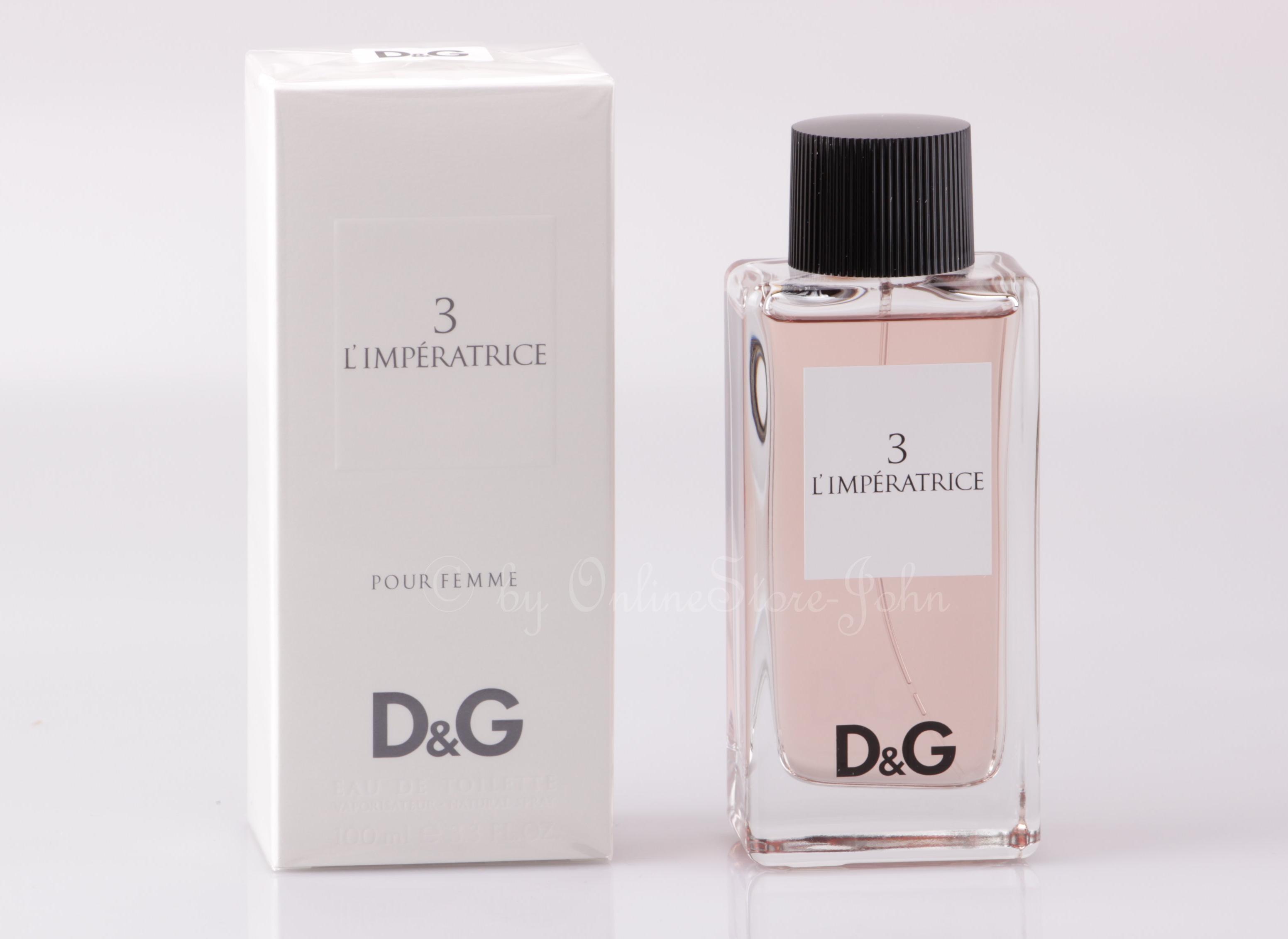 Dolce   Gabbana - 3 L Imperatrice - 100ml EDT Eau de Toilette D G 7445bf993c8c