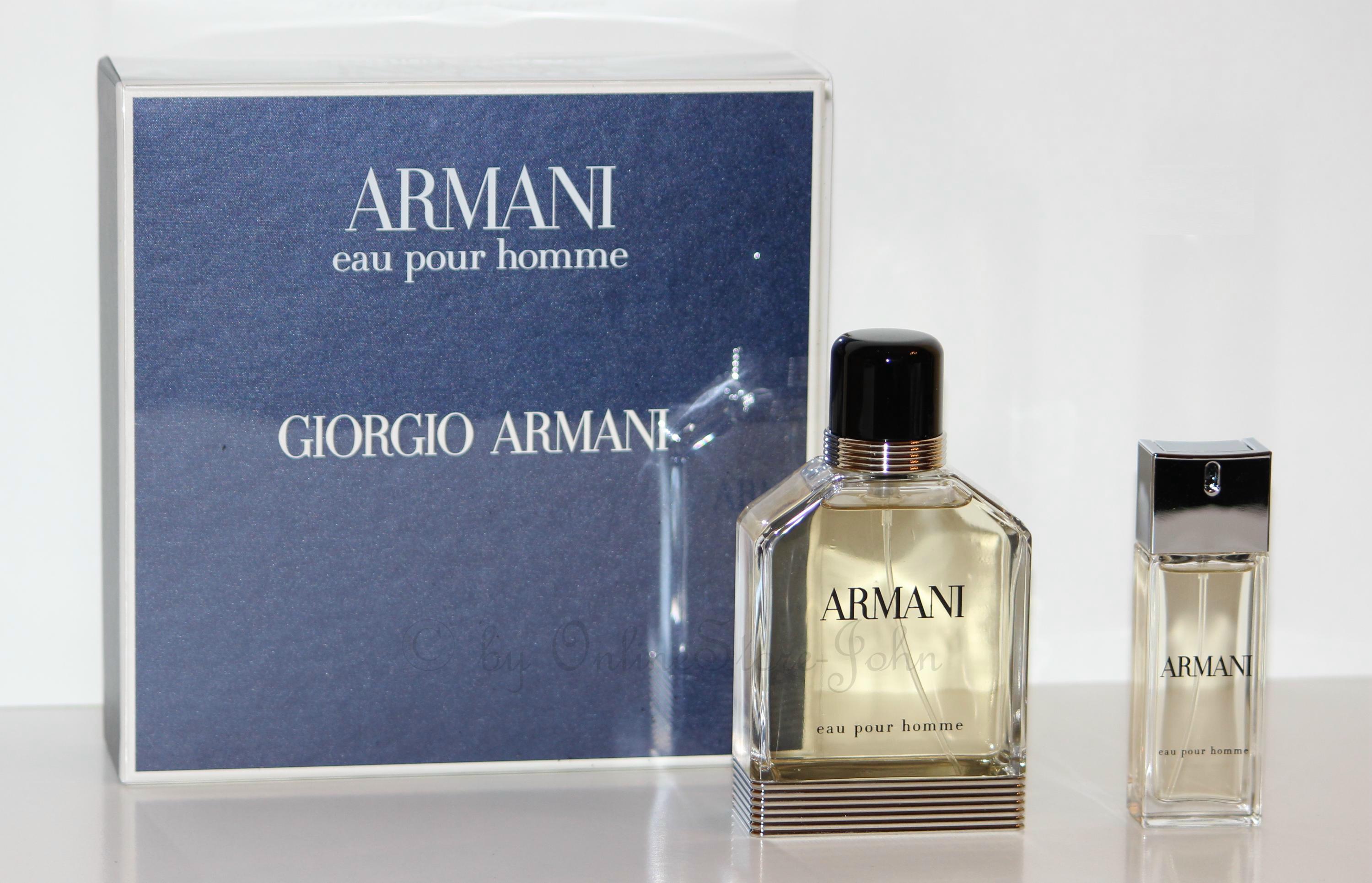giorgio armani eau pour homme set 100ml edt 20ml edt. Black Bedroom Furniture Sets. Home Design Ideas