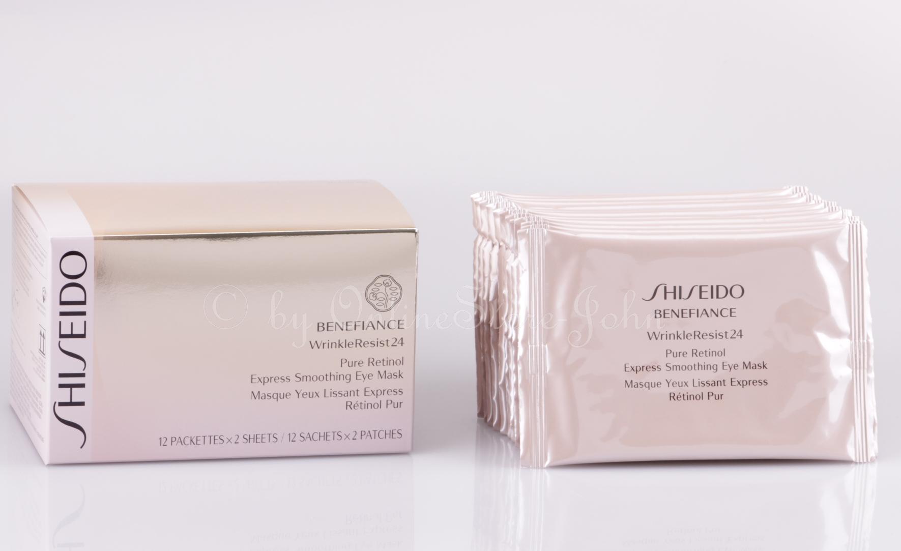 shiseido pure retinol express smoothing eye mask