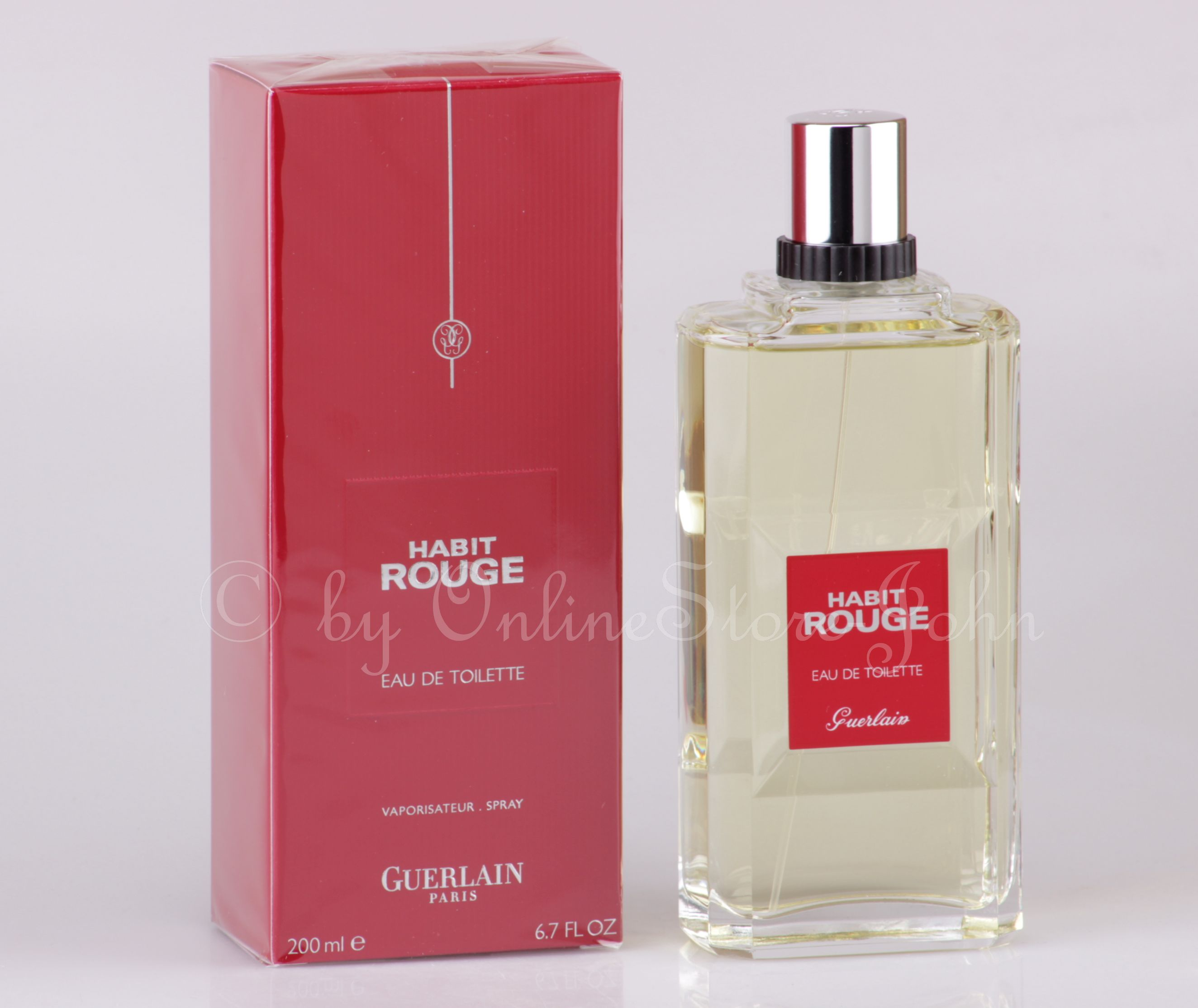 guerlain habit rouge 200ml edt eau de toilette. Black Bedroom Furniture Sets. Home Design Ideas