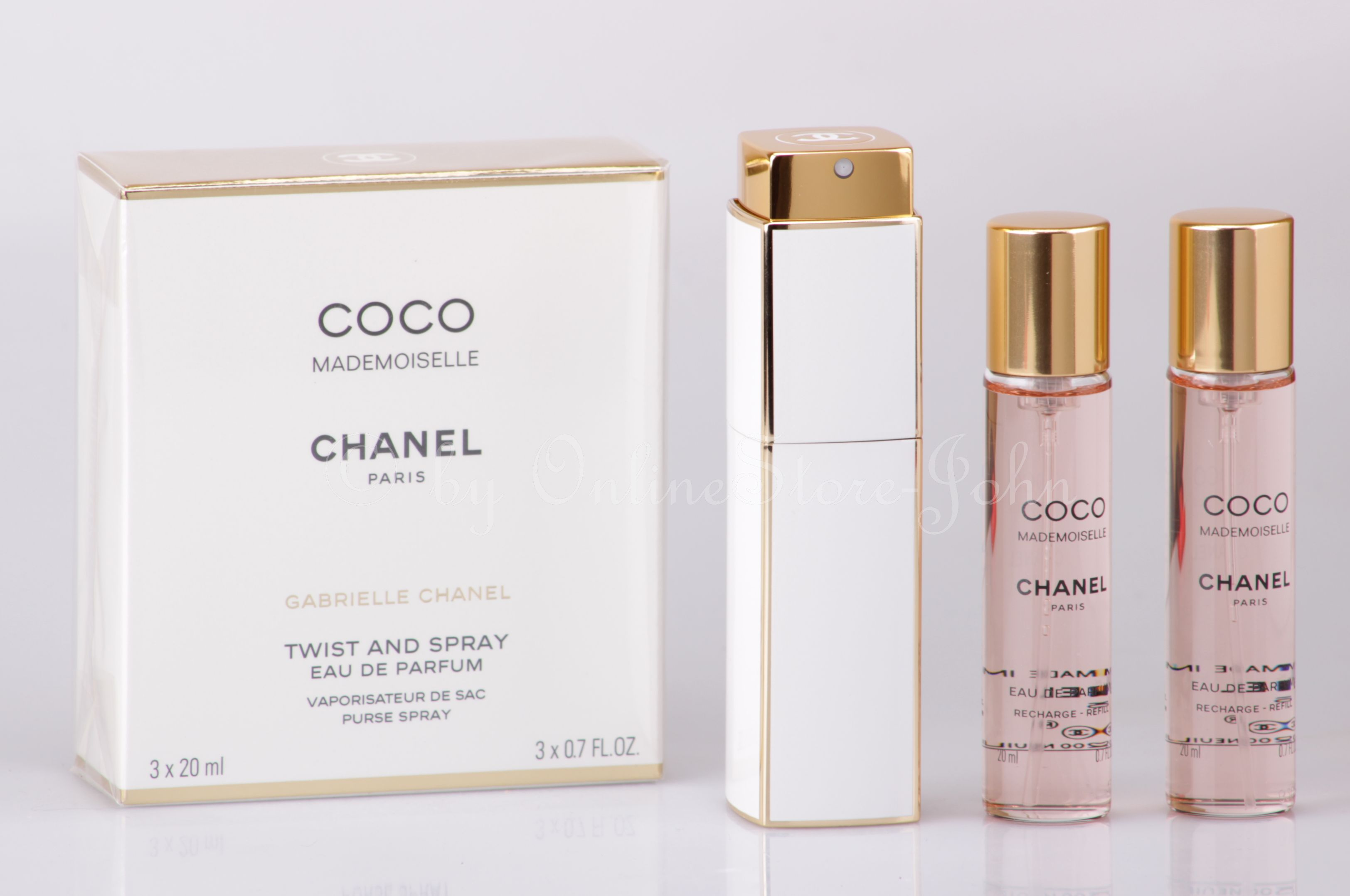 chanel coco mademoiselle twist spray 3 x 20ml 60ml. Black Bedroom Furniture Sets. Home Design Ideas