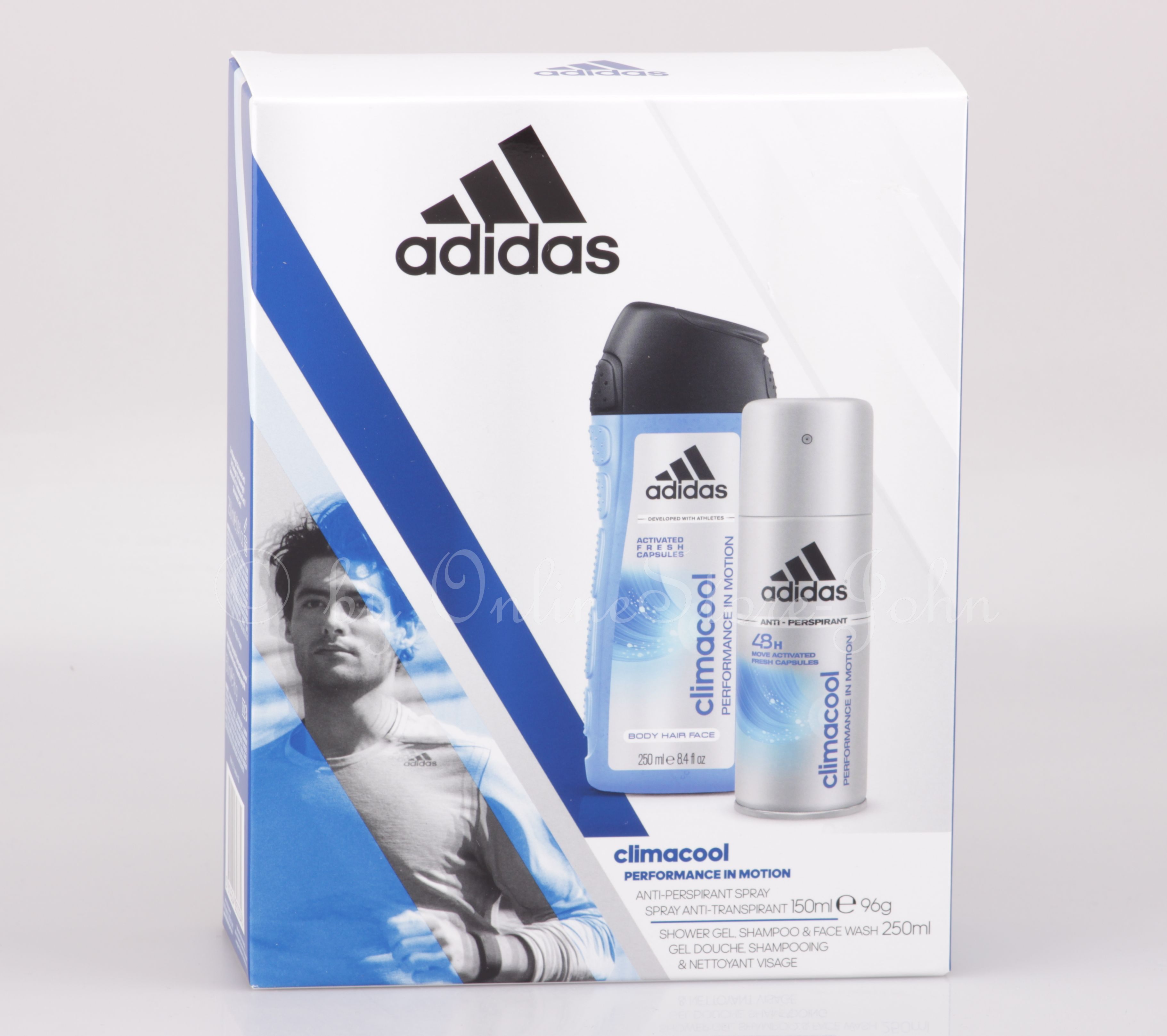 2018 shoes shopping how to buy Adidas - Climacool Set -150ml 48h Deo-Spray + 250ml Body Shower Gel